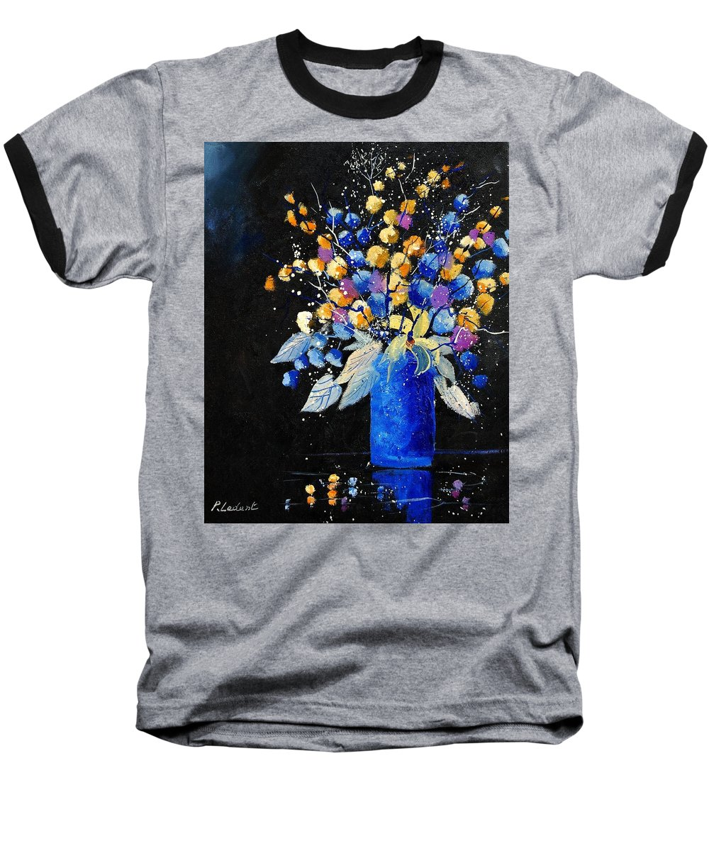 Flowers Baseball T-Shirt featuring the painting Bunch 451008 by Pol Ledent