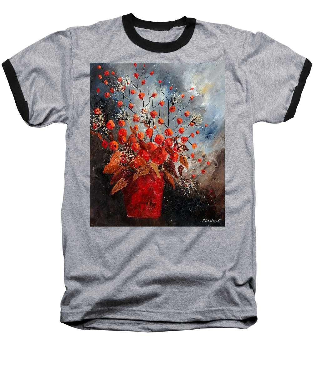 Flowers Baseball T-Shirt featuring the painting Bunch 560608 by Pol Ledent