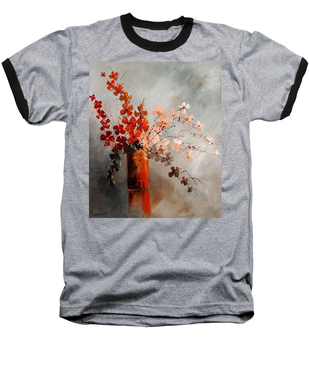 Flowers Baseball T-Shirt featuring the painting Bunch 670908 by Pol Ledent
