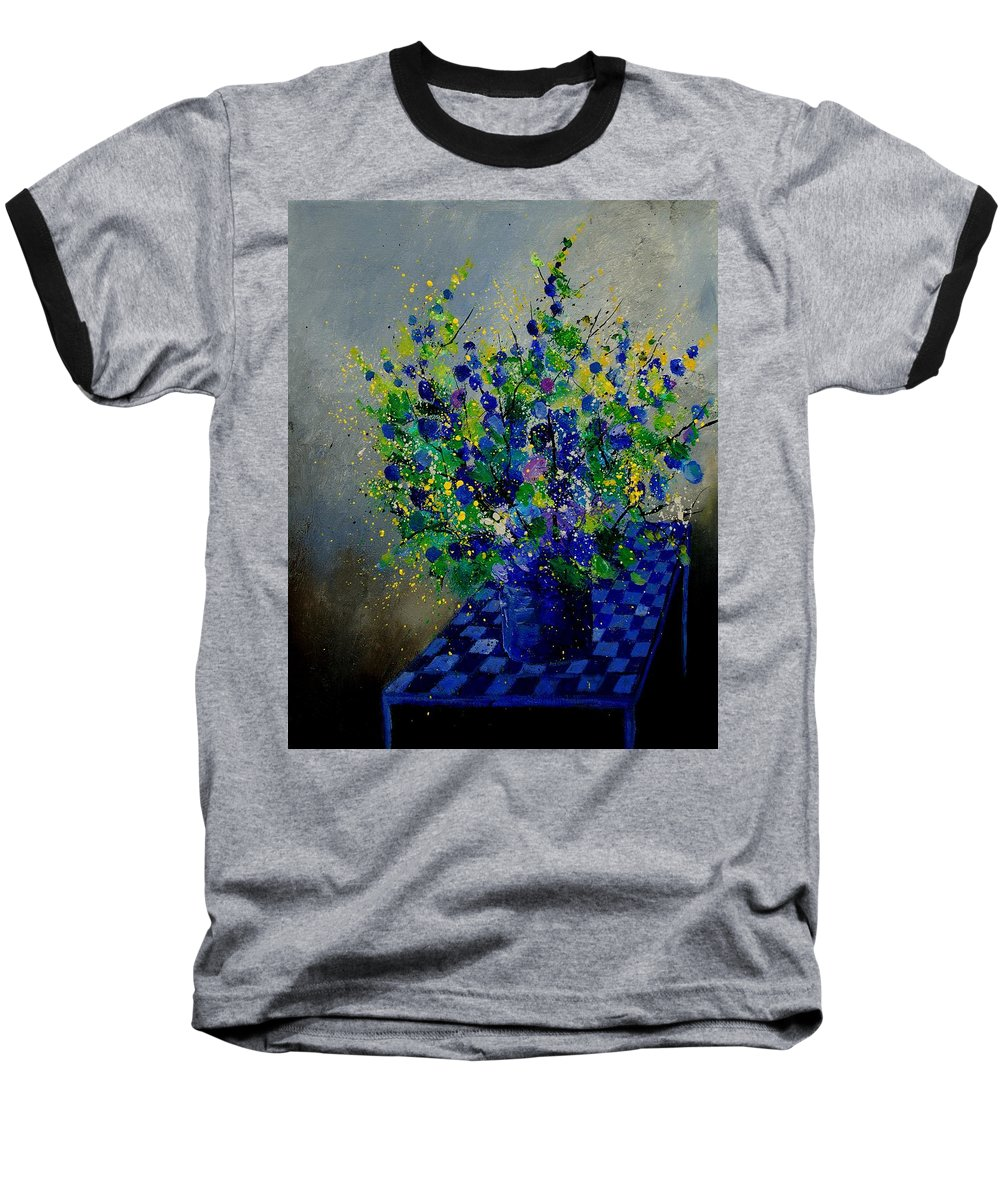 Flowers Baseball T-Shirt featuring the painting Bunch 9020 by Pol Ledent