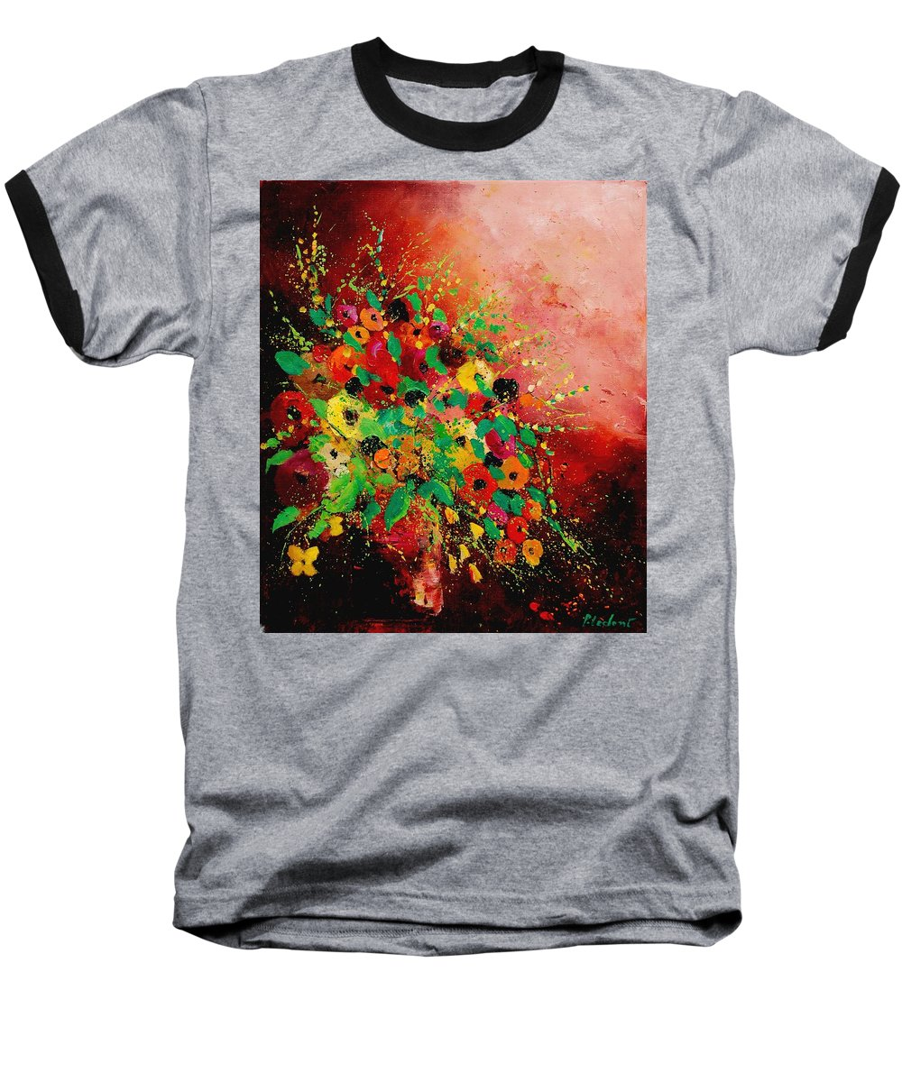 Flowers Baseball T-Shirt featuring the painting Bunch Of Flowers 0507 by Pol Ledent