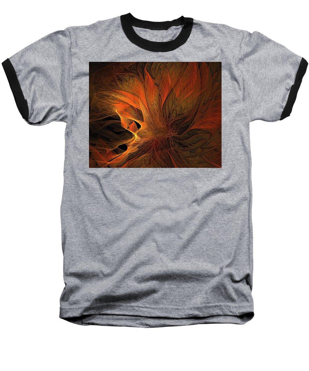 Digital Art Baseball T-Shirt featuring the digital art Burn by Amanda Moore