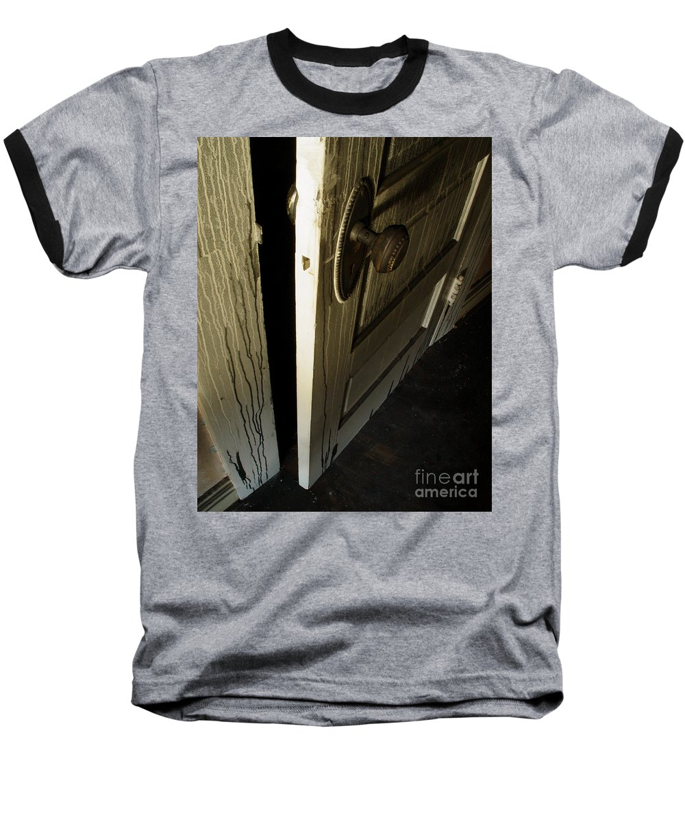 Ghostly Baseball T-Shirt featuring the photograph Burned Knob 02 by Peter Piatt