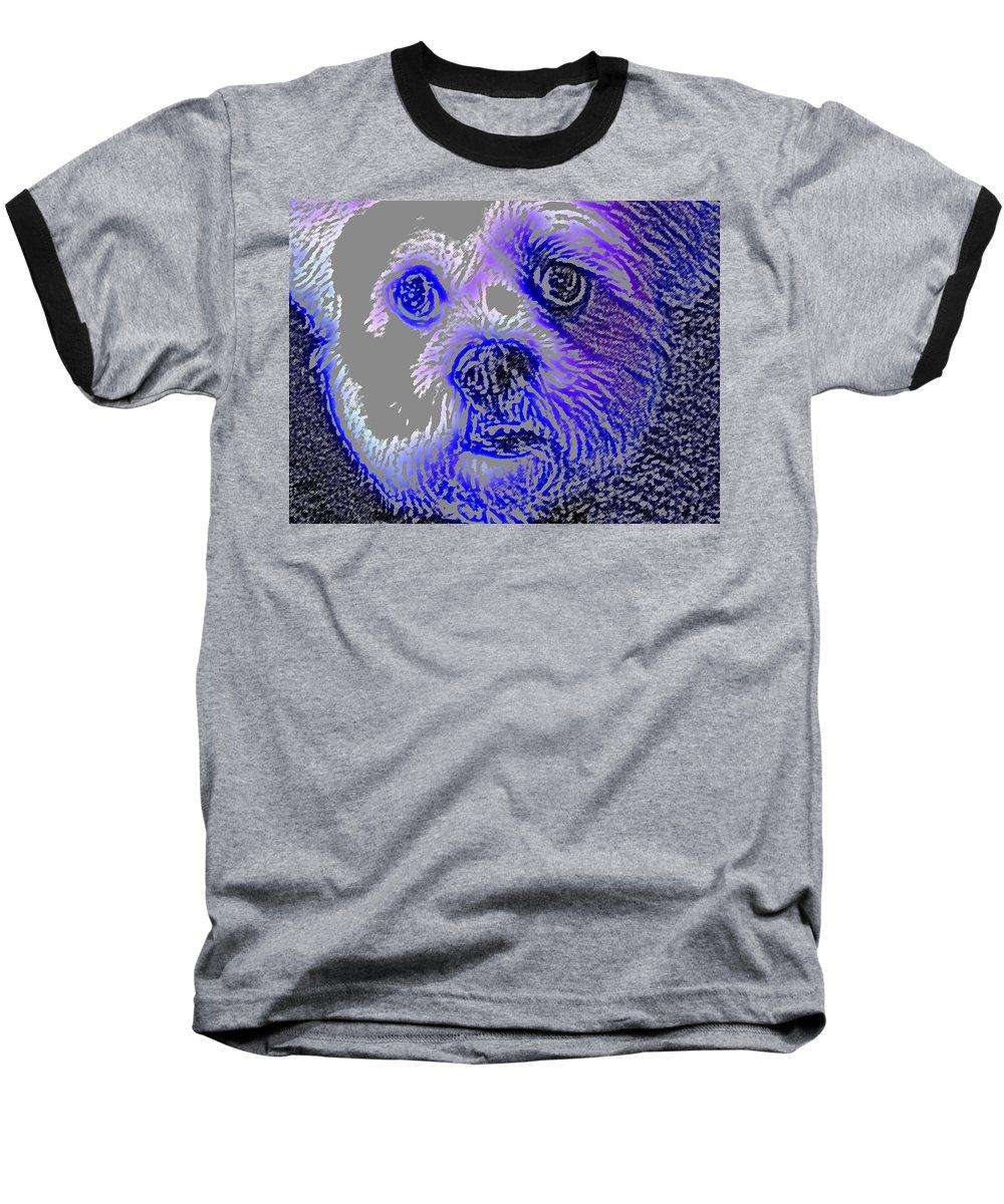 Dog Baseball T-Shirt featuring the photograph Buster Photo by Wayne Potrafka