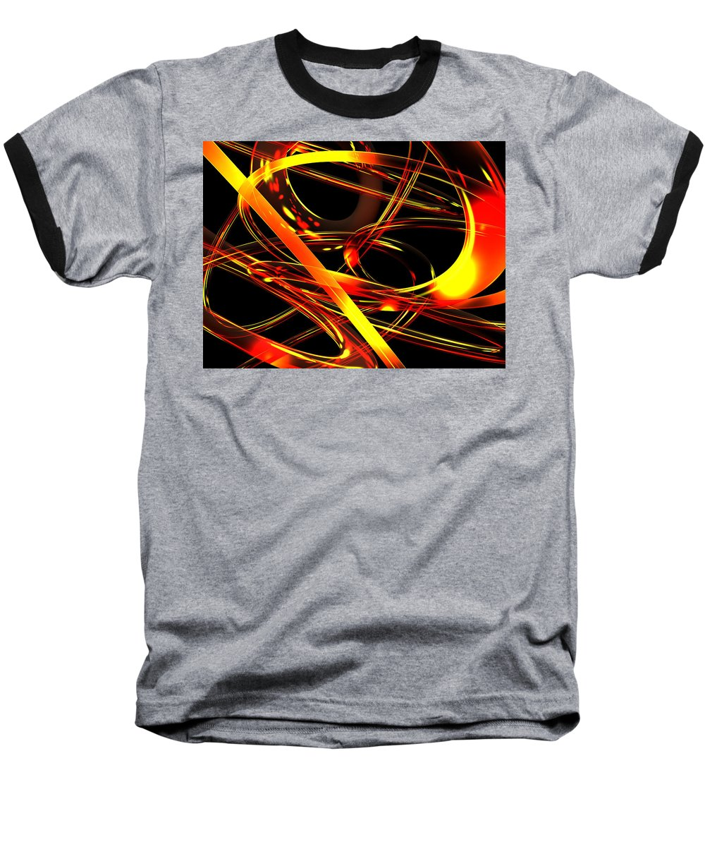 Scott Piers Baseball T-Shirt featuring the digital art BWS by Scott Piers