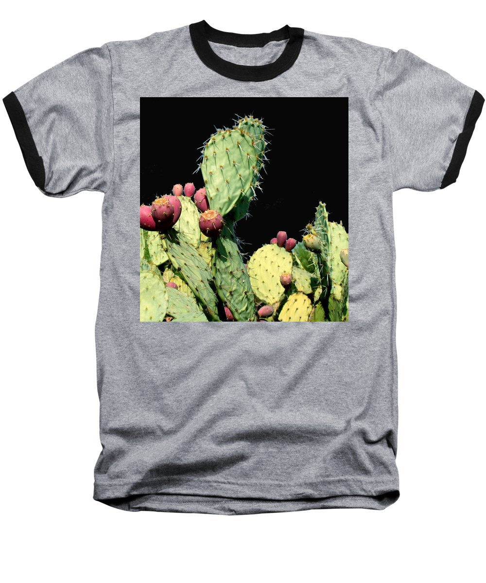 Cactus Baseball T-Shirt featuring the photograph Cactus Two by Wayne Potrafka