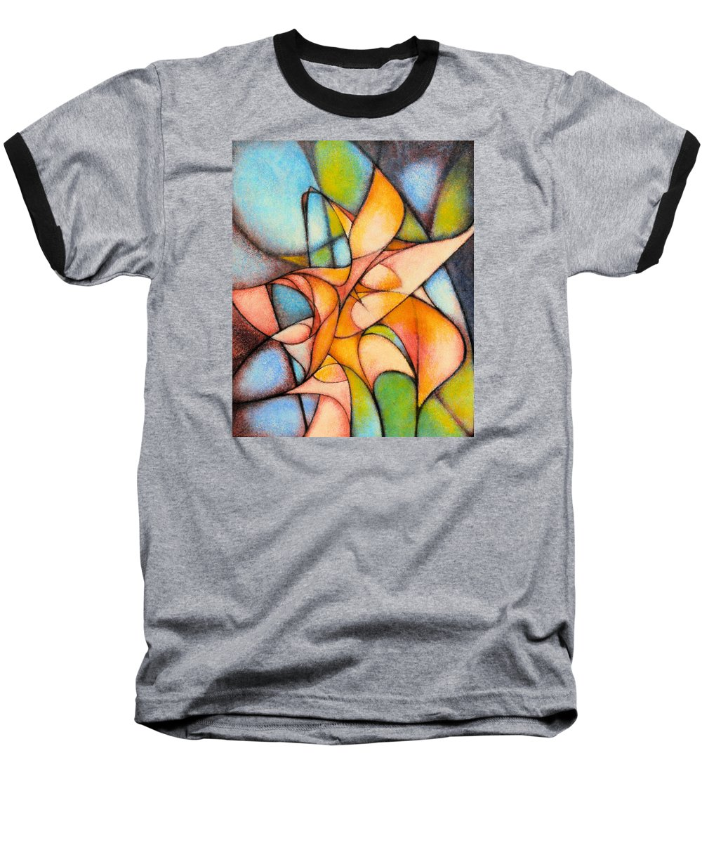 Contemporary Baseball T-Shirt featuring the painting Calla Lillies by Kevin Lawrence Leveque