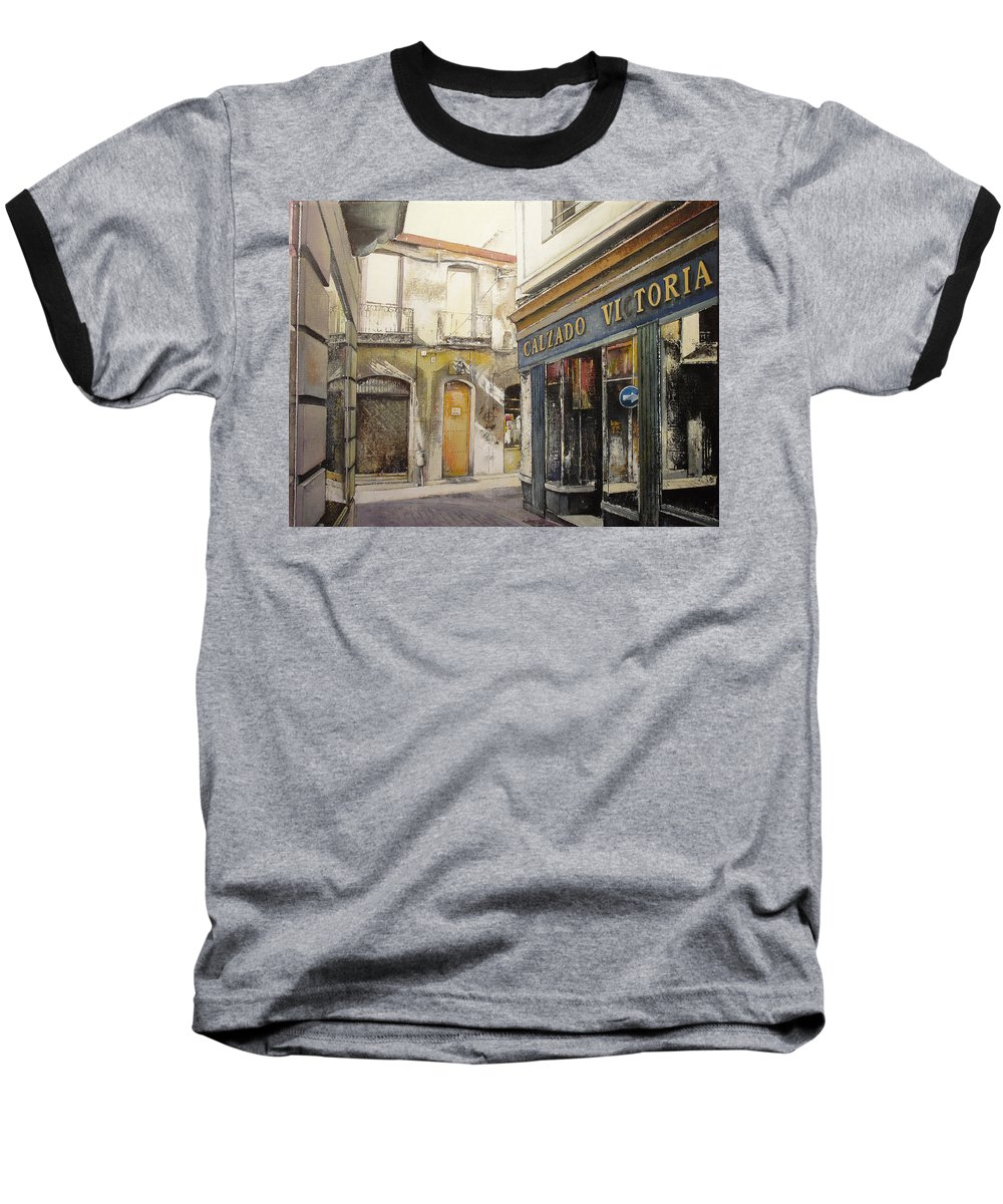 Calzados Baseball T-Shirt featuring the painting Calzados Victoria-leon by Tomas Castano