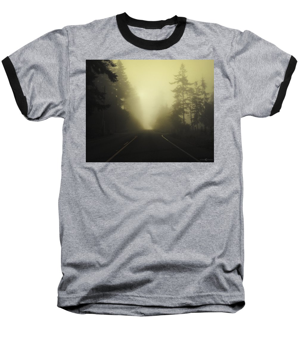 Fog Baseball T-Shirt featuring the photograph Camano Island Fog by Tim Nyberg