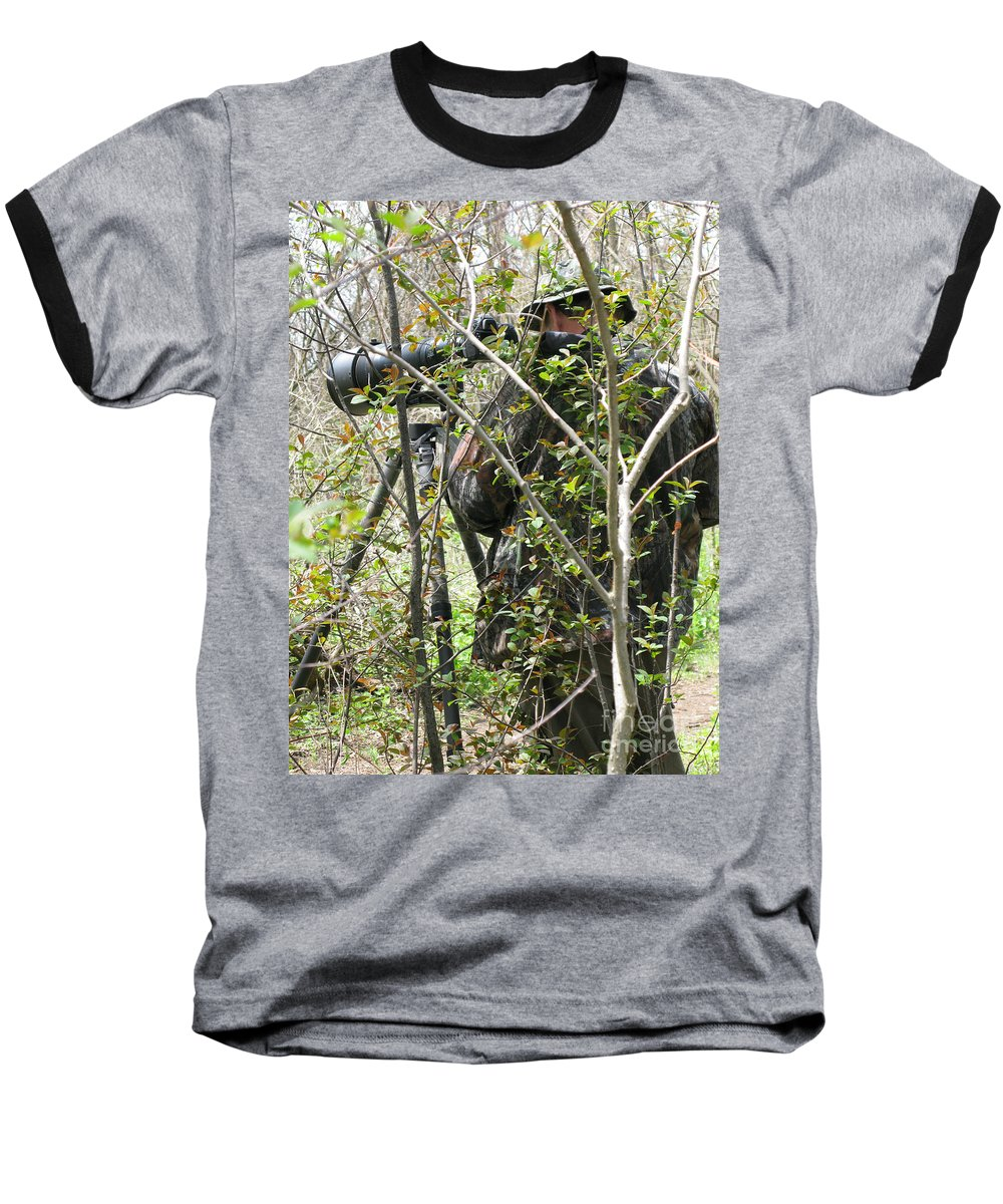 Photographer Baseball T-Shirt featuring the photograph Camouflage by Ann Horn