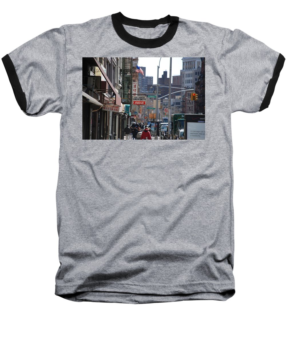Architecture Baseball T-Shirt featuring the photograph Canal And Eldridge by Rob Hans