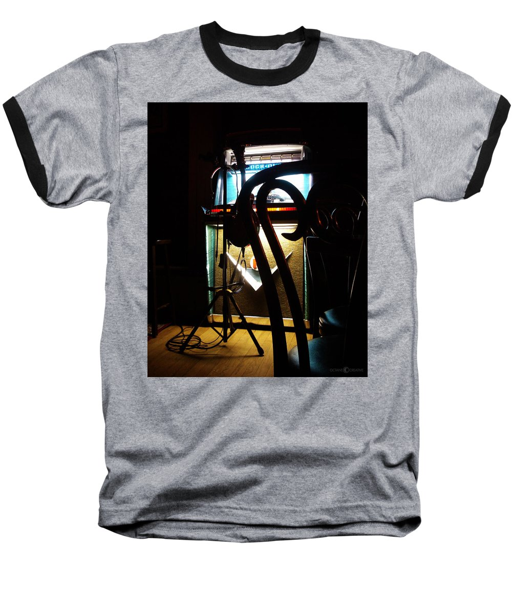 Music Baseball T-Shirt featuring the photograph Canned Music by Tim Nyberg