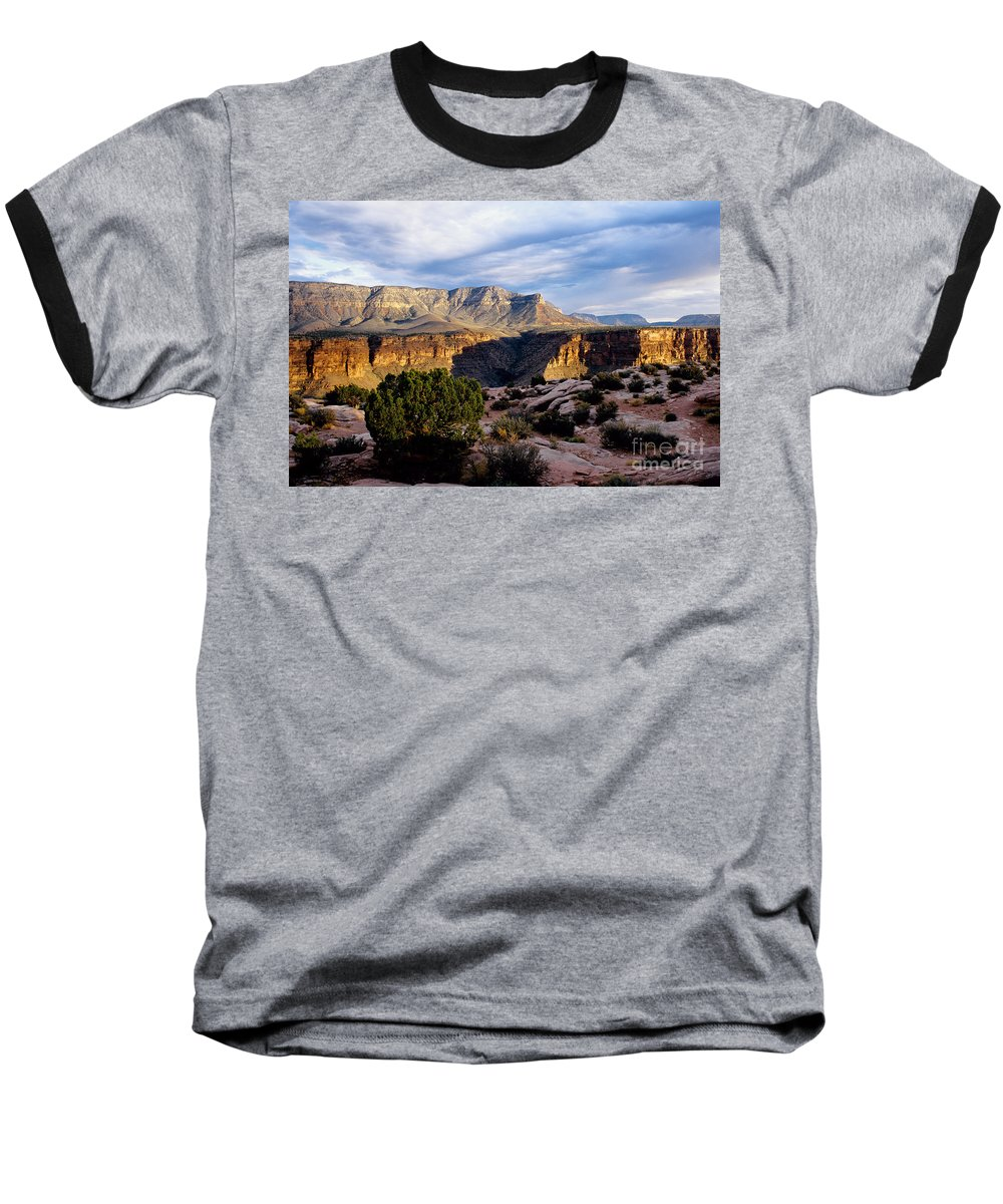 Toroweap Baseball T-Shirt featuring the photograph Canyon Walls At Toroweap by Kathy McClure
