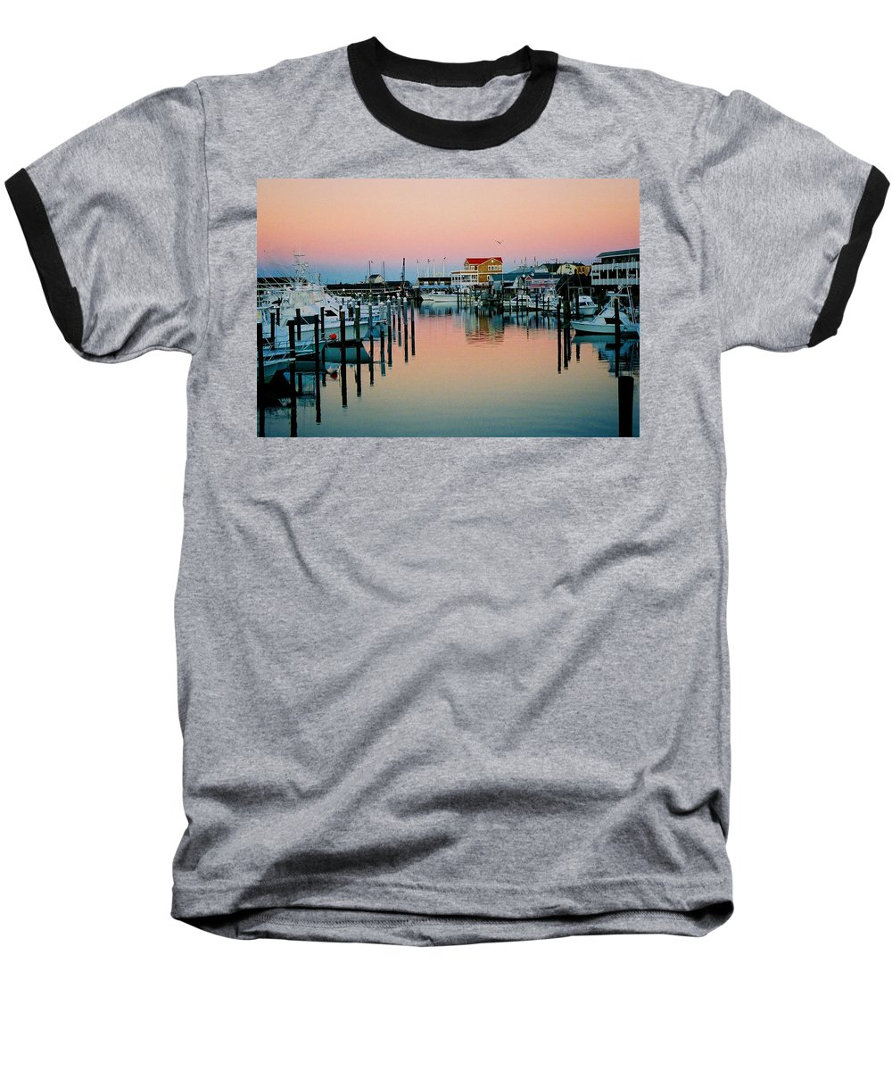 Cape May Baseball T-Shirt featuring the photograph Cape May After Glow by Steve Karol