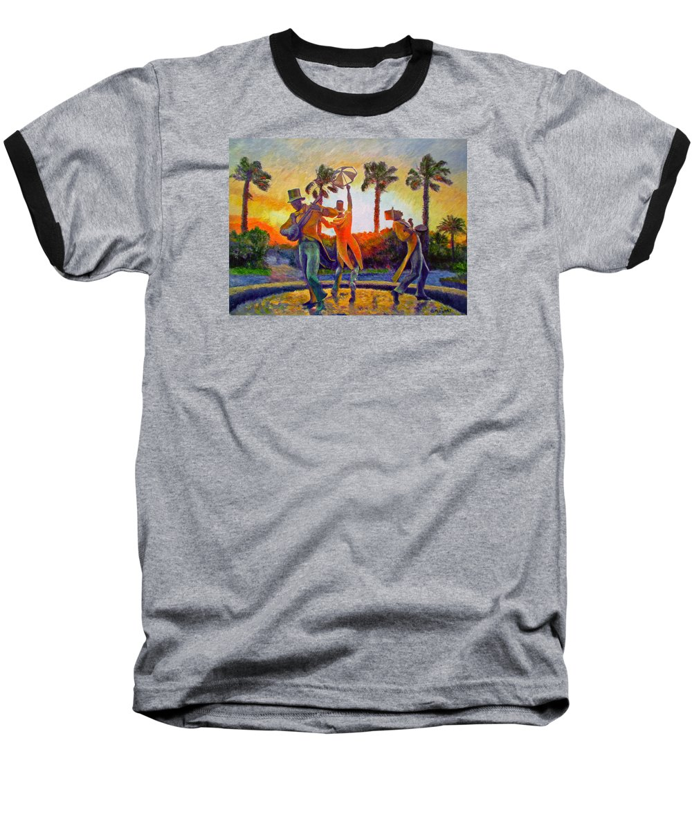 Sunset Baseball T-Shirt featuring the painting Cape Minstrels by Michael Durst