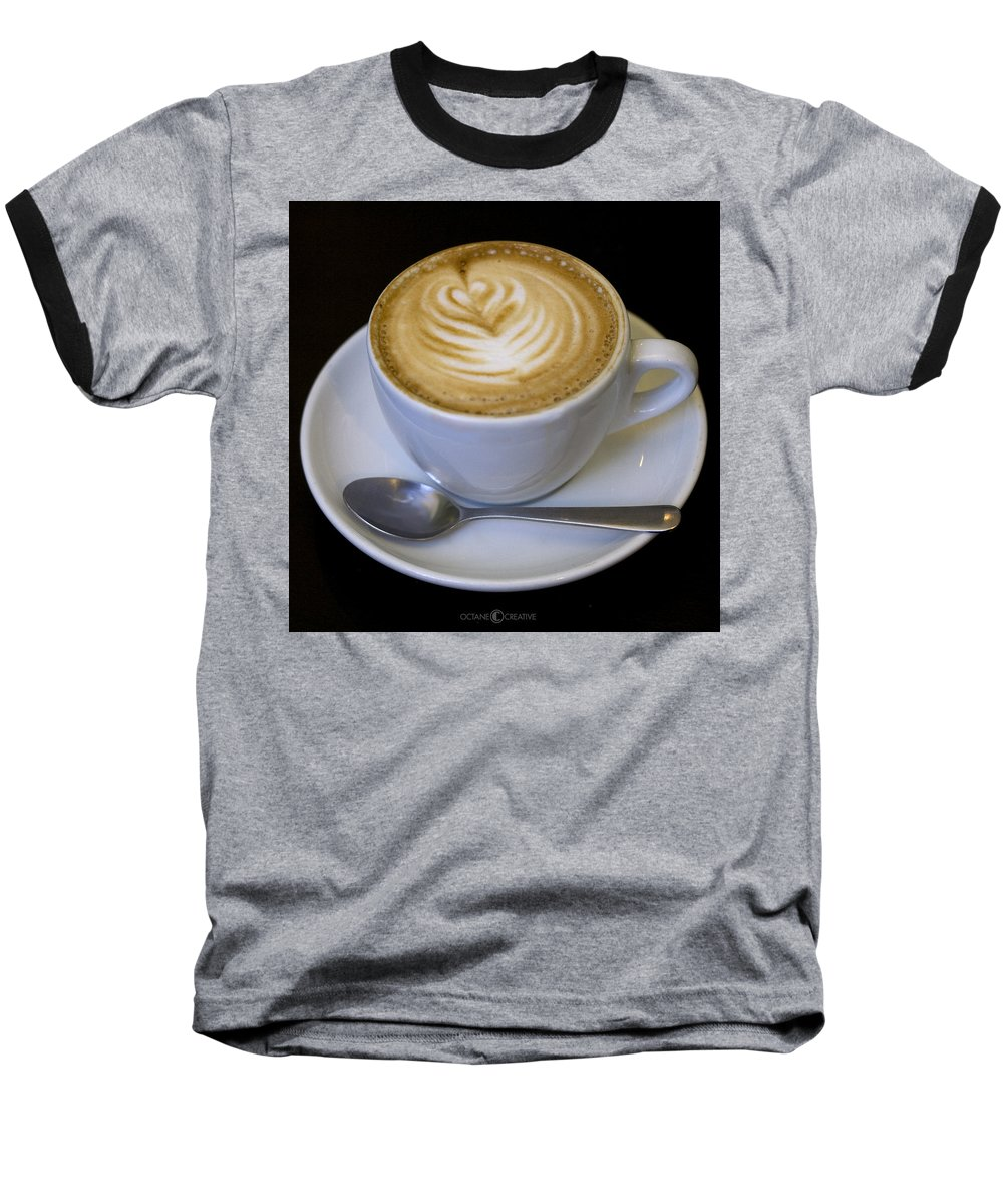 Coffee Baseball T-Shirt featuring the photograph Cappuccino by Tim Nyberg