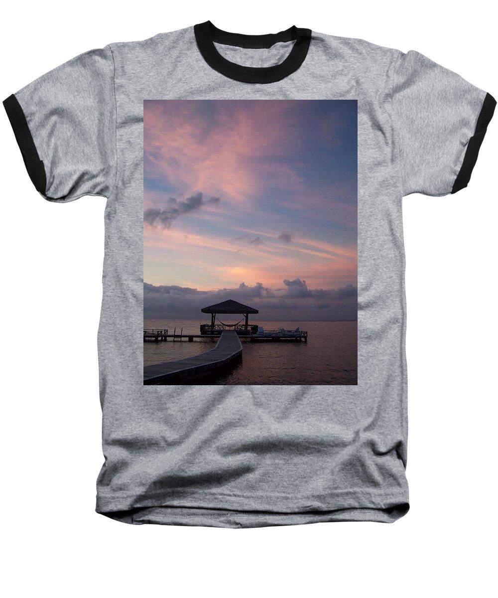 Ocean Baseball T-Shirt featuring the photograph Caribbean Sunrise by Gale Cochran-Smith