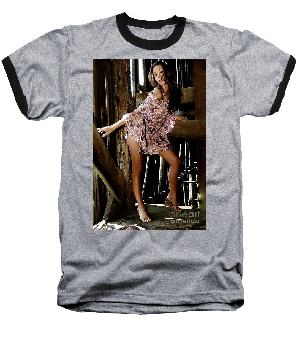 Clay Baseball T-Shirt featuring the photograph Carla's In The Barn Again by Clayton Bruster