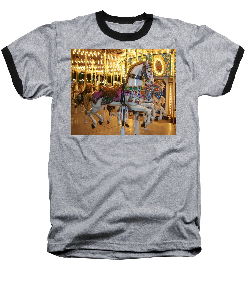 Carosel Horse Baseball T-Shirt featuring the photograph Carosel Horse by Anita Burgermeister