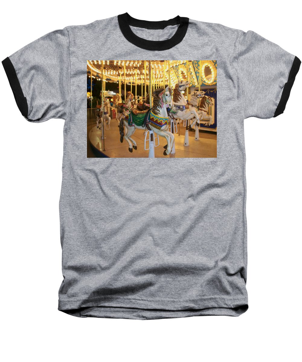 Carousel Horse Baseball T-Shirt featuring the photograph Carousel Horse 4 by Anita Burgermeister