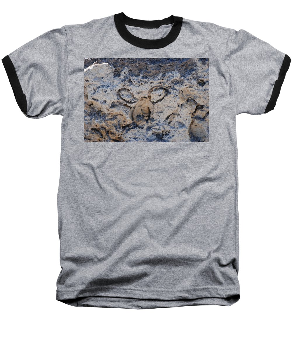 Ocean Baseball T-Shirt featuring the photograph Carved Catface by Rob Hans