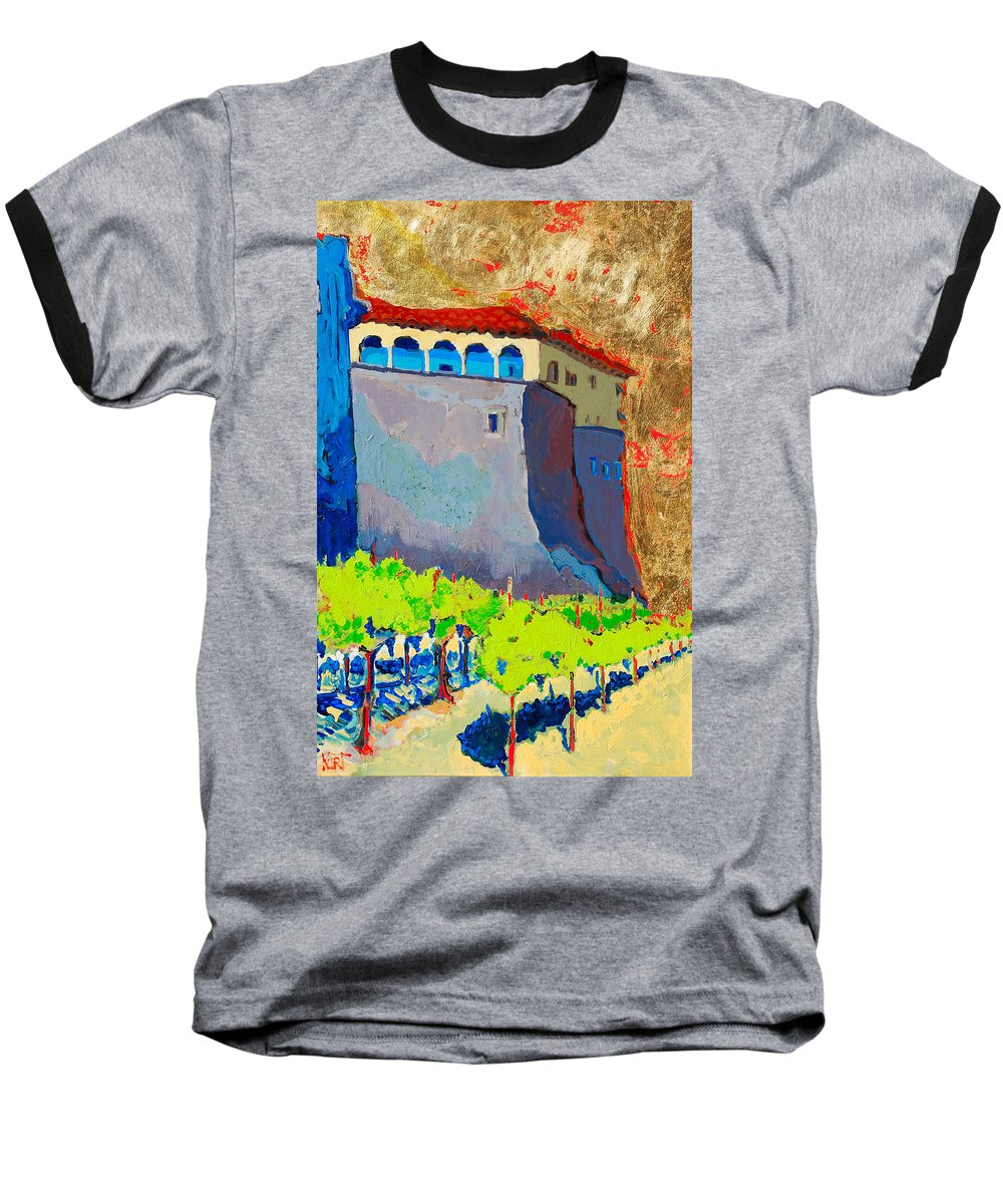 Castle Baseball T-Shirt featuring the painting Castello Di Villafranca by Kurt Hausmann
