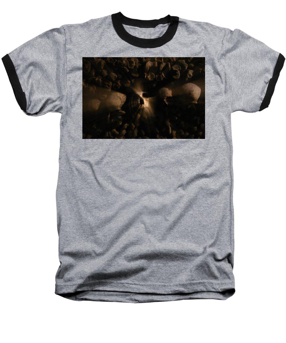 Baseball T-Shirt featuring the photograph Catacombs - Paria France 3 by Jennifer McDuffie