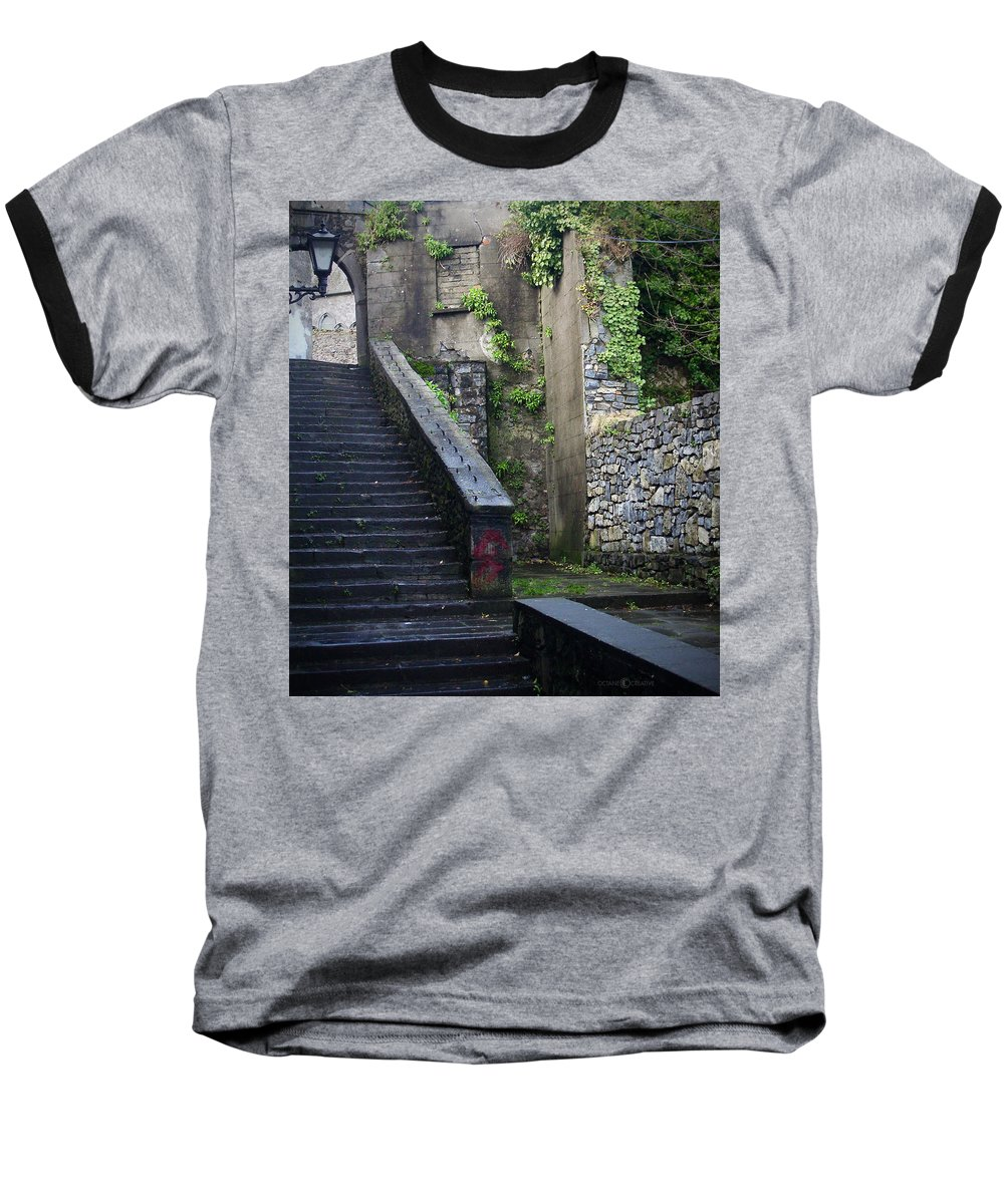 Stairs Baseball T-Shirt featuring the photograph Cathedral Stairs by Tim Nyberg