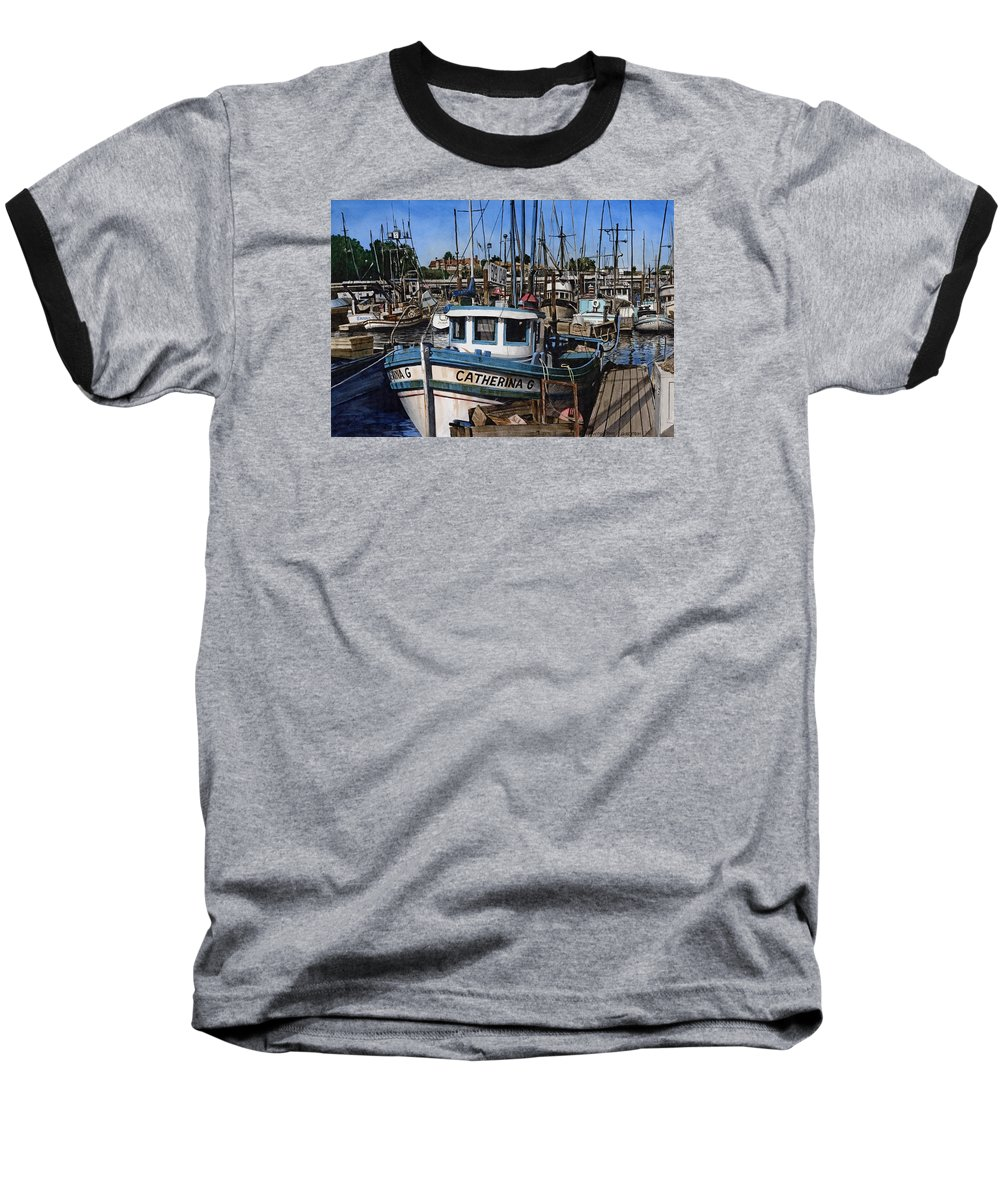 Transportation Baseball T-Shirt featuring the painting Catherina G by James Robertson