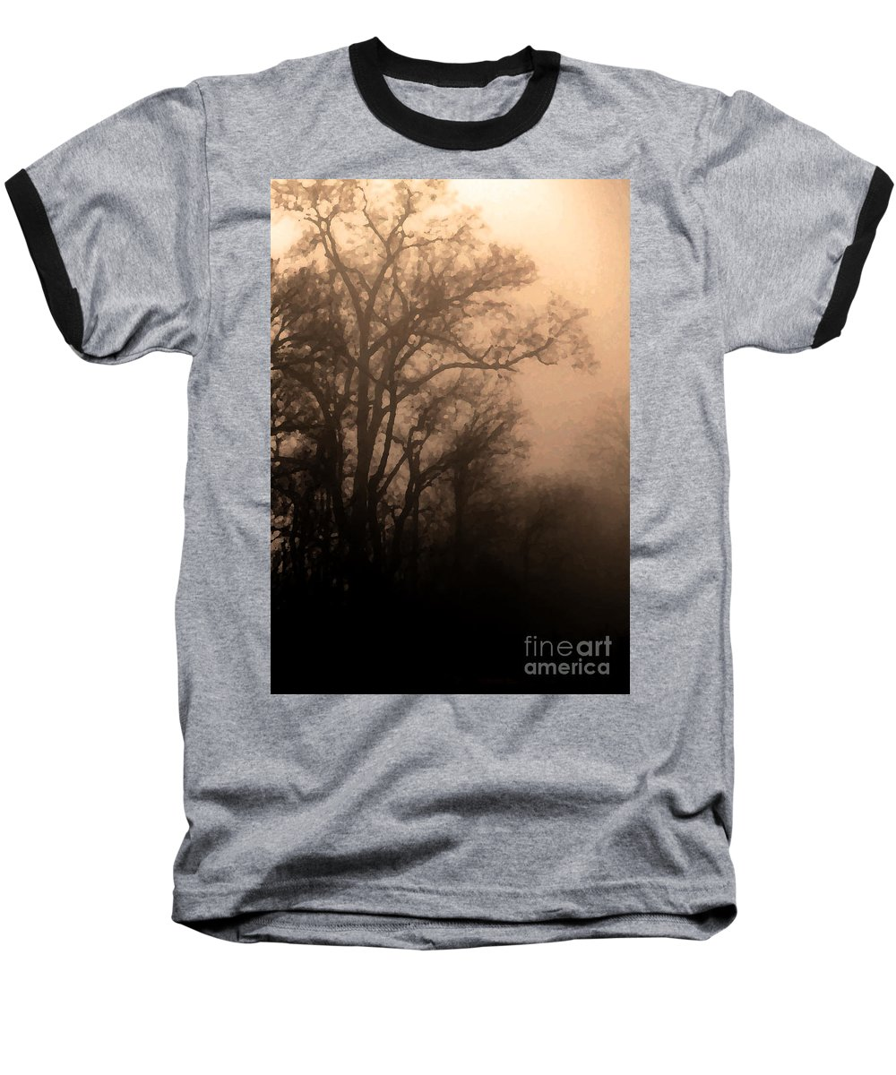 Soft Baseball T-Shirt featuring the photograph Caught Between Light And Dark by Amanda Barcon