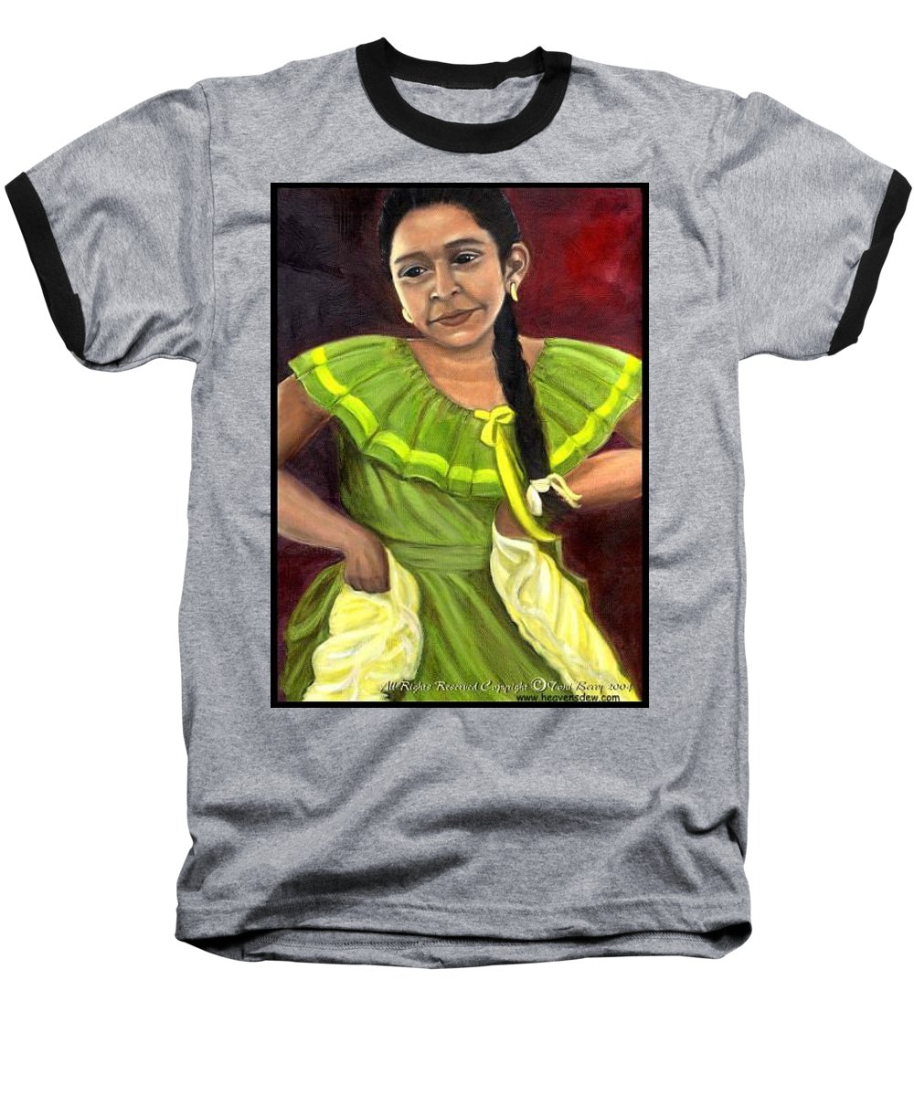 Baseball T-Shirt featuring the painting Cecelia by Toni Berry