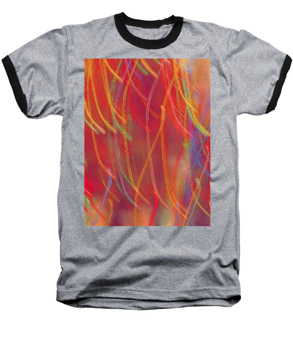 Abstract Baseball T-Shirt featuring the photograph Celebration by Gaby Swanson