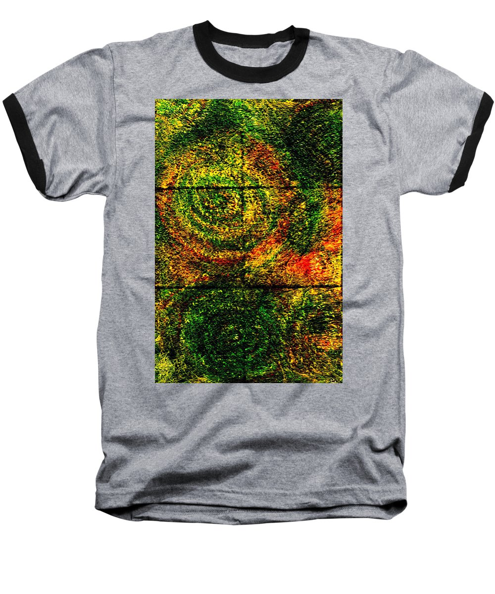 Abstract Baseball T-Shirt featuring the painting Celestial Grid by Wayne Potrafka