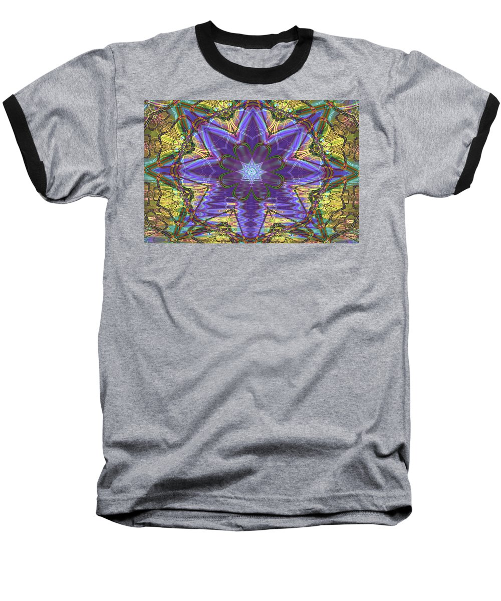 Abstract Baseball T-Shirt featuring the digital art Celtic Knot by Frederic Durville