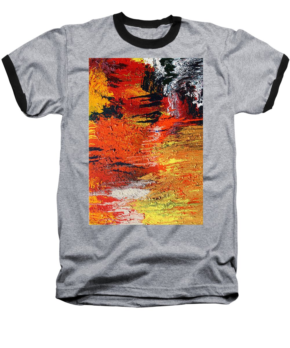 Fusionart Baseball T-Shirt featuring the painting Chasm by Ralph White
