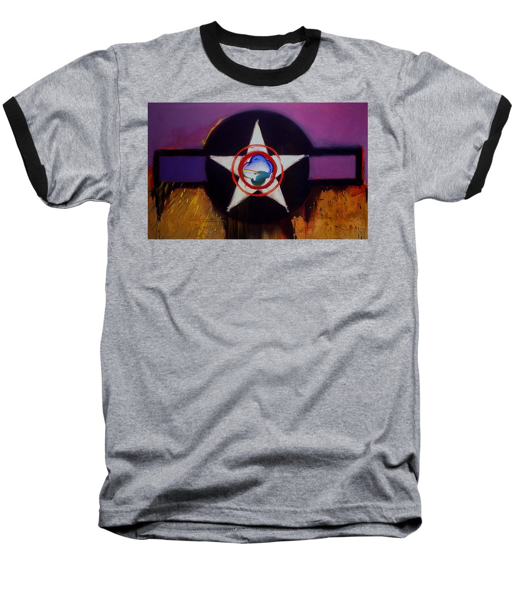 Air Force Insignia Baseball T-Shirt featuring the painting Cheyenne Autumn by Charles Stuart