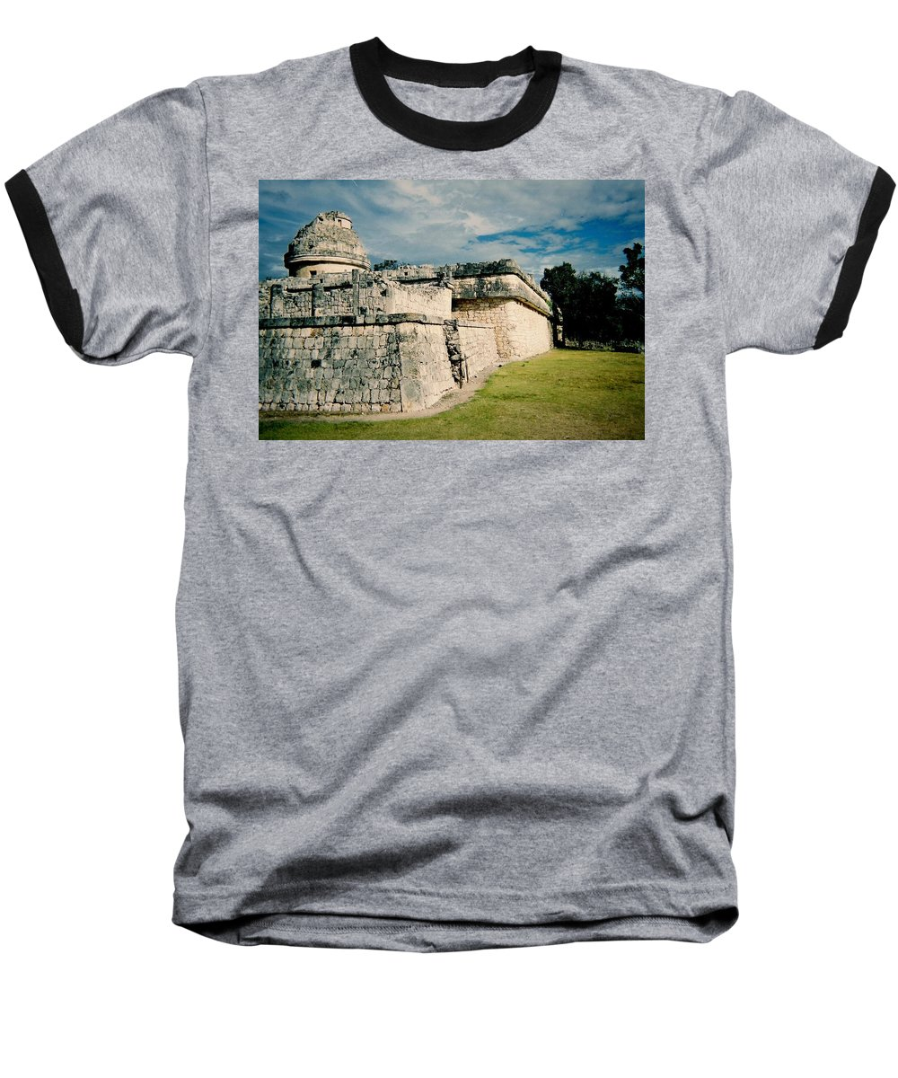 Chitchen Itza Baseball T-Shirt featuring the photograph Chichen Itza 1 by Anita Burgermeister