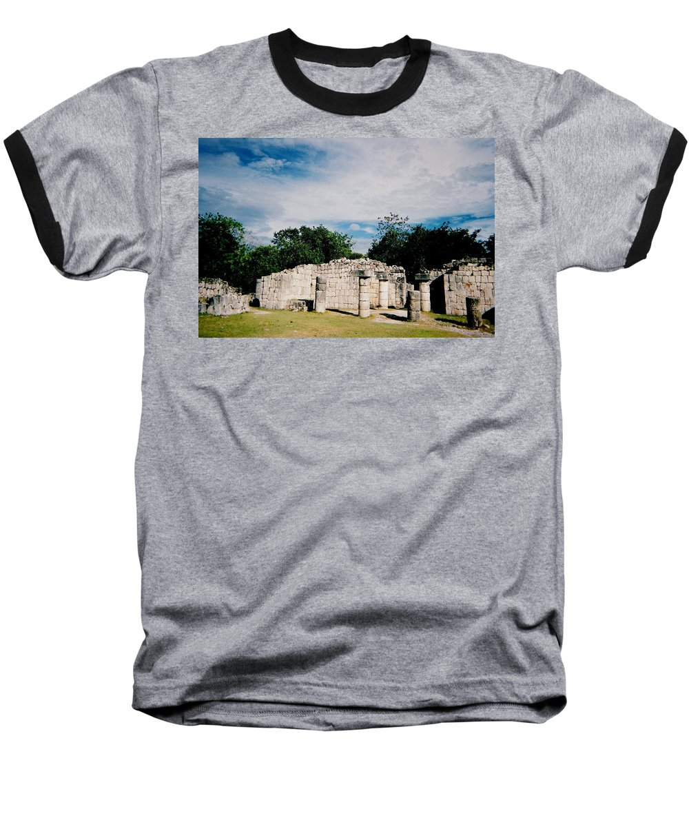 Chitchen Itza Baseball T-Shirt featuring the photograph Chichen Itza 2 by Anita Burgermeister