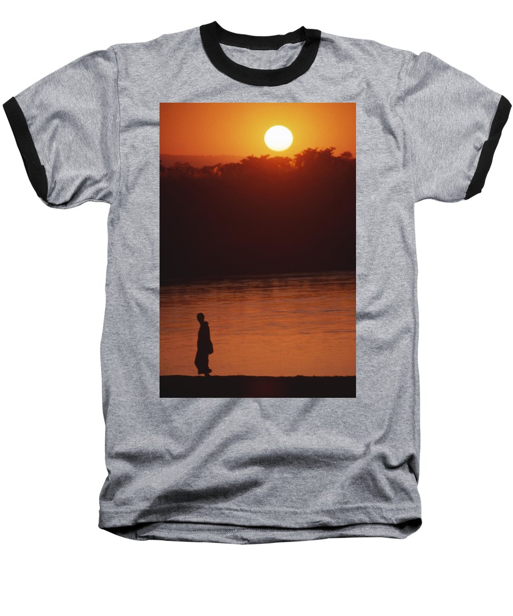Sunset Baseball T-Shirt featuring the photograph Chitwan Sunset by Patrick Klauss