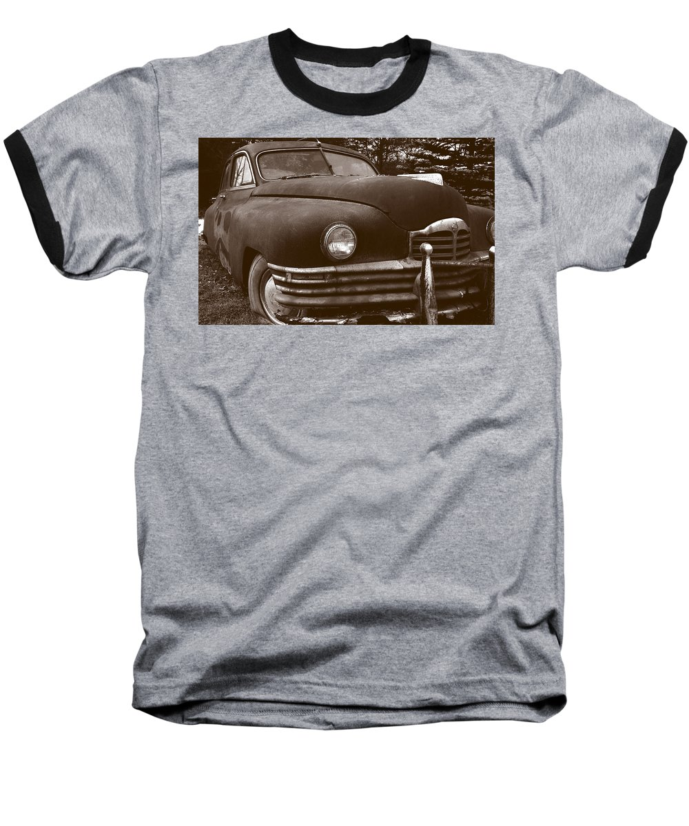 Old Car Baseball T-Shirt featuring the photograph Chocolate Moose by Jean Macaluso