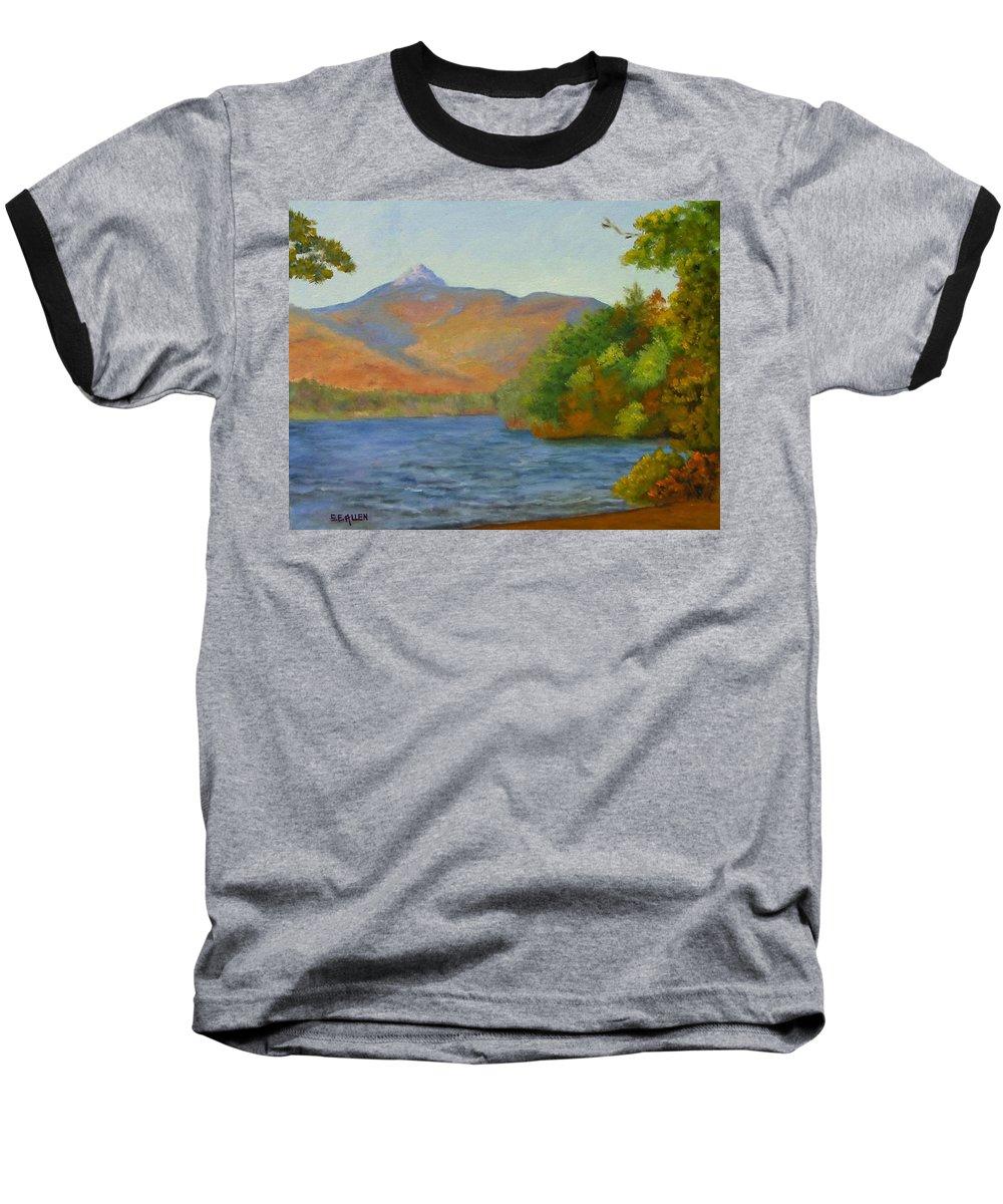 Mount Chocorua And Chocorua Lake Baseball T-Shirt featuring the painting Chocorua by Sharon E Allen