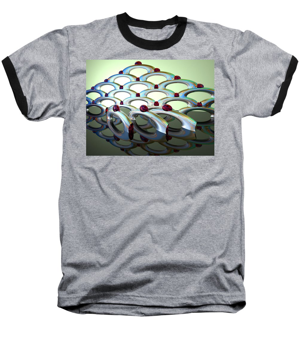 Scott Piers Baseball T-Shirt featuring the painting Chrome Sundae by Scott Piers