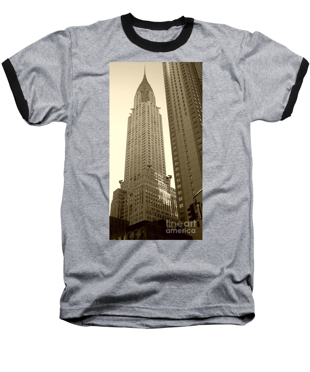 New York Baseball T-Shirt featuring the photograph Chrysler Building by Debbi Granruth
