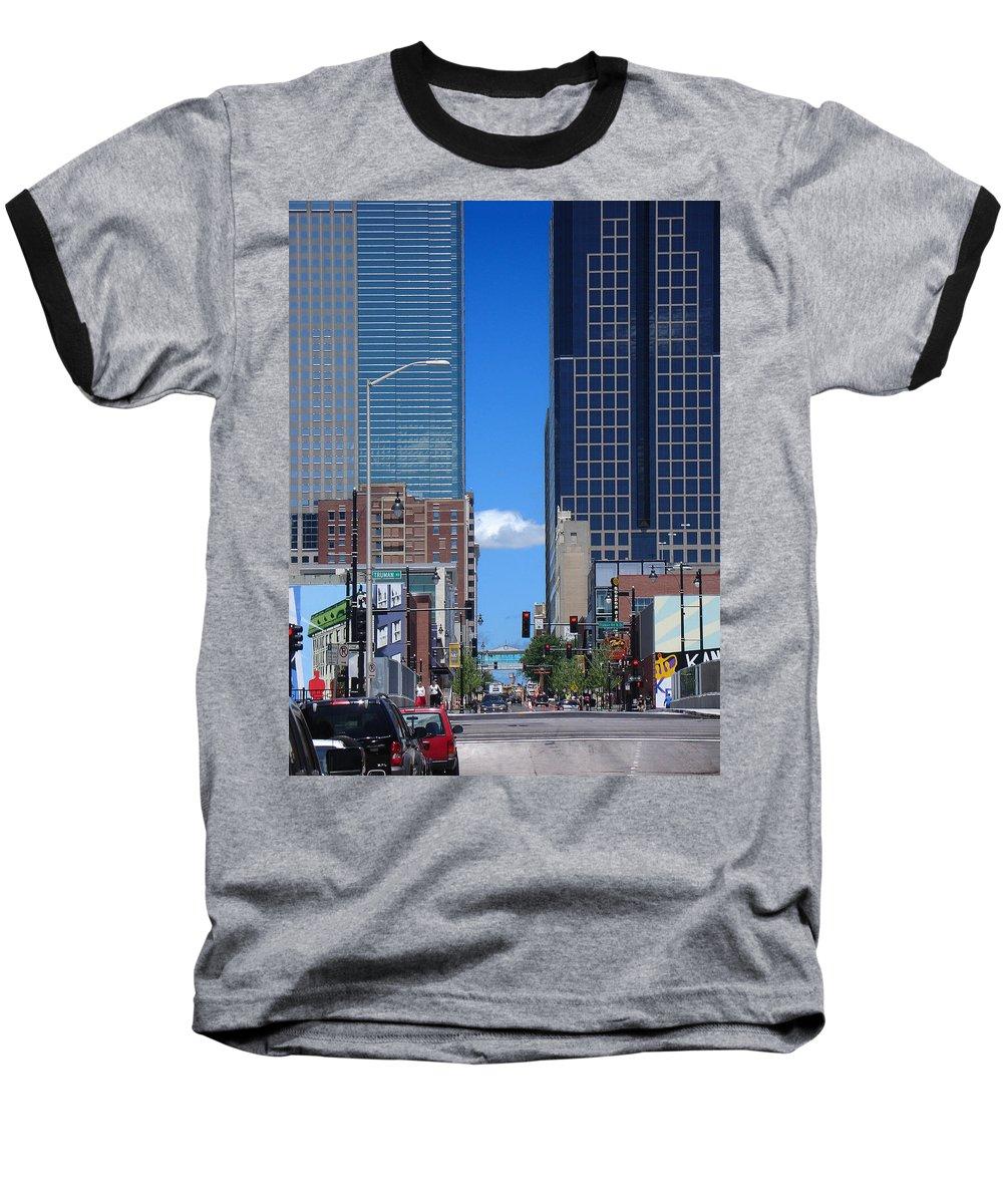 Kansas City Baseball T-Shirt featuring the photograph City Street Canyon by Steve Karol