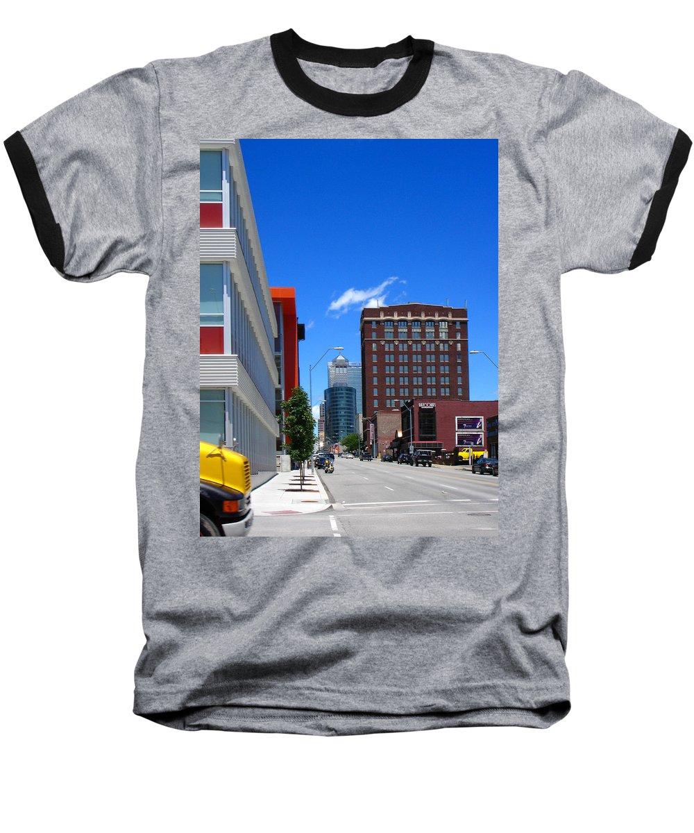 Kansas City Baseball T-Shirt featuring the photograph City Street by Steve Karol