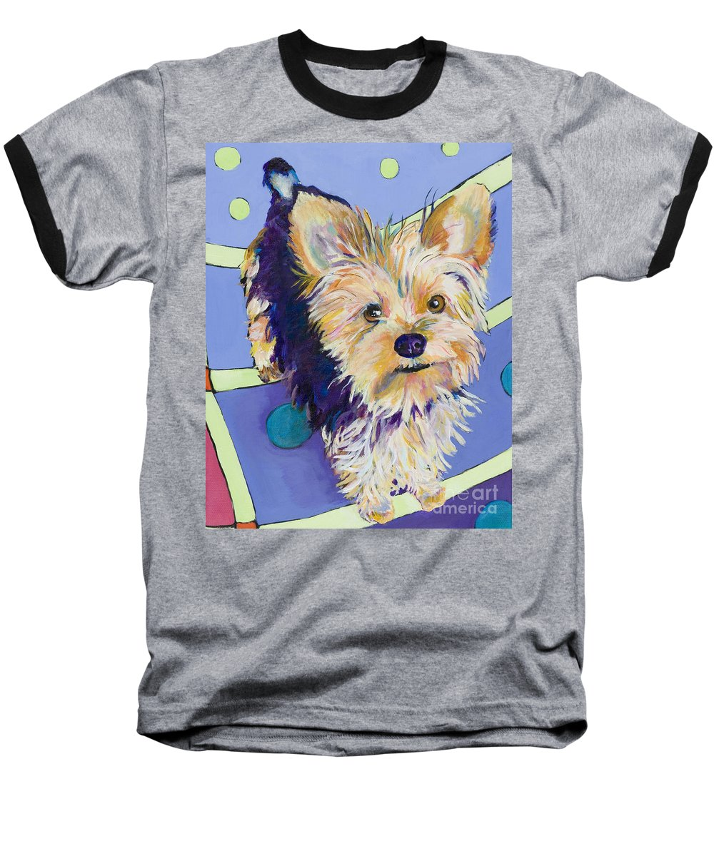 Pet Portraits Baseball T-Shirt featuring the painting Claire by Pat Saunders-White