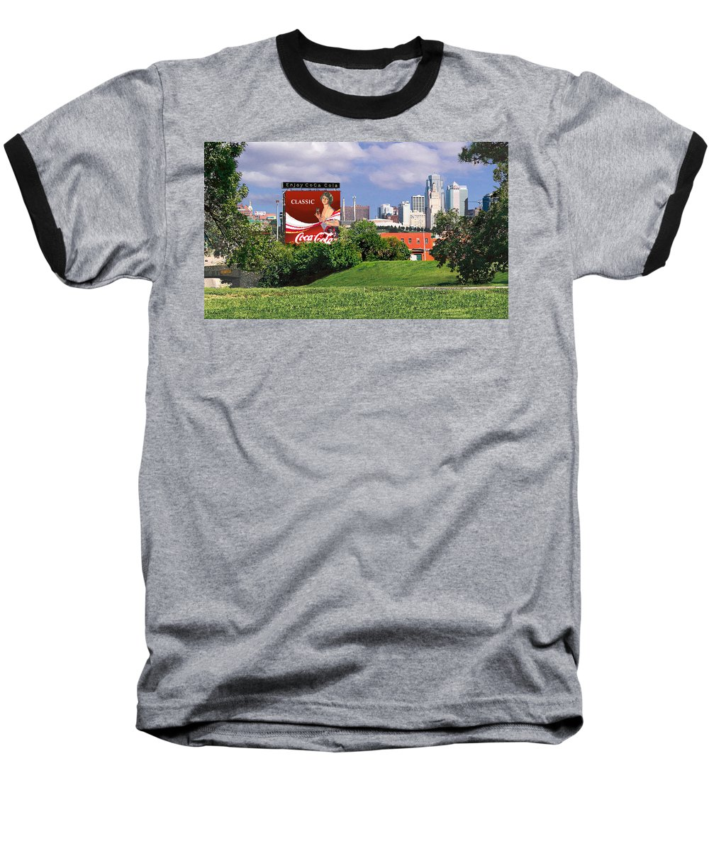 Landscape Baseball T-Shirt featuring the photograph Classic Summer by Steve Karol
