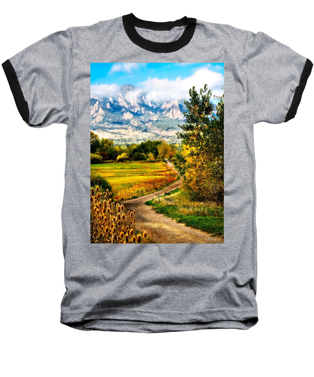 Americana Baseball T-Shirt featuring the photograph Clearly Colorado by Marilyn Hunt