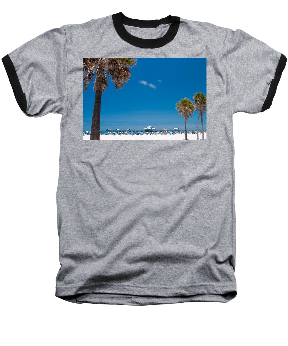 3scape Photos Baseball T-Shirt featuring the photograph Clearwater Beach by Adam Romanowicz