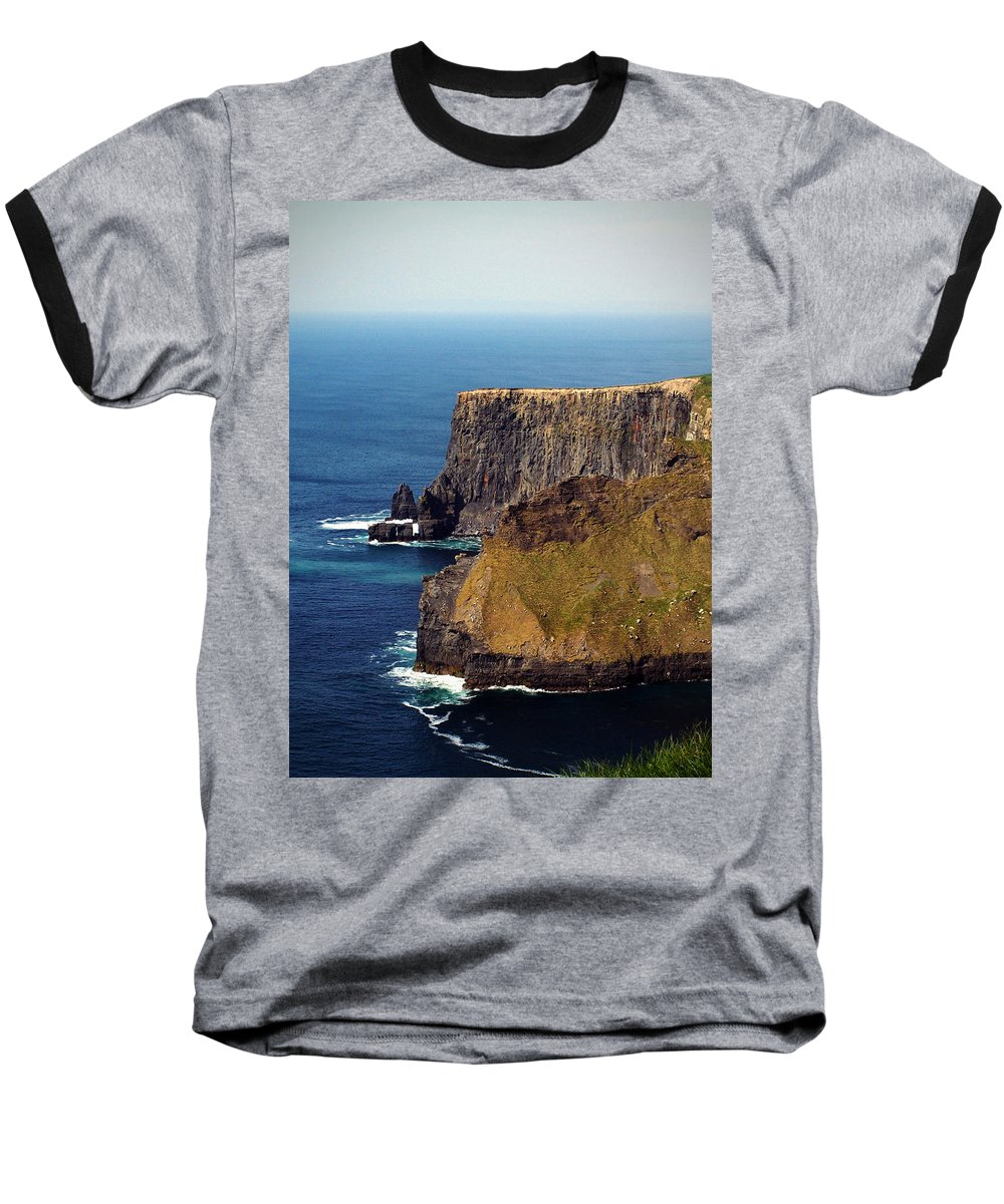 Irish Baseball T-Shirt featuring the photograph Cliffs Of Moher Ireland View Of Aill Na Searrach by Teresa Mucha
